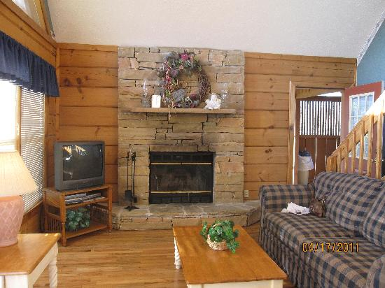 Country Pines Log Home Resort: Living room