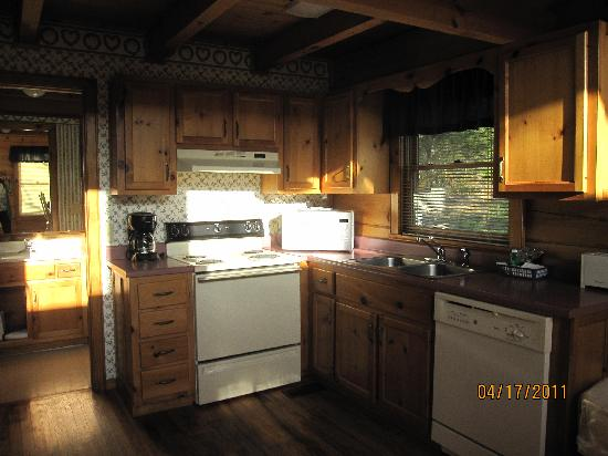 Country Pines Log Home Resort: Kitchen