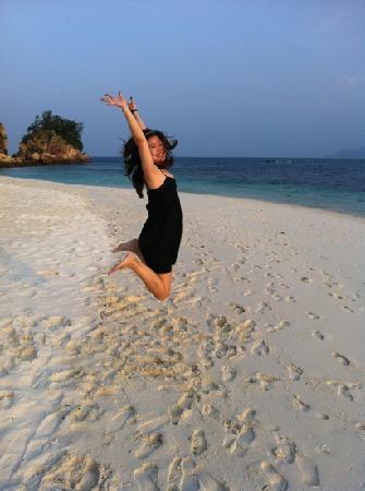 Rawa Island Resort: jump shot!