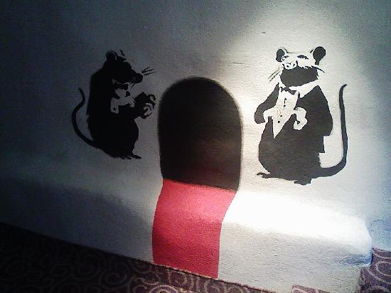 Hotel Justus: wall painting by the lift