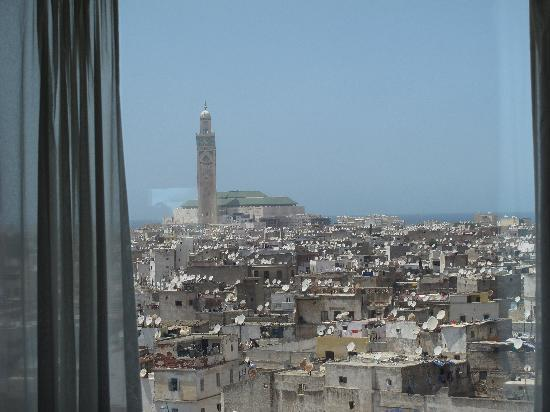 Hyatt Regency Casablanca : View of the Medina and Hassan II mosque from our room