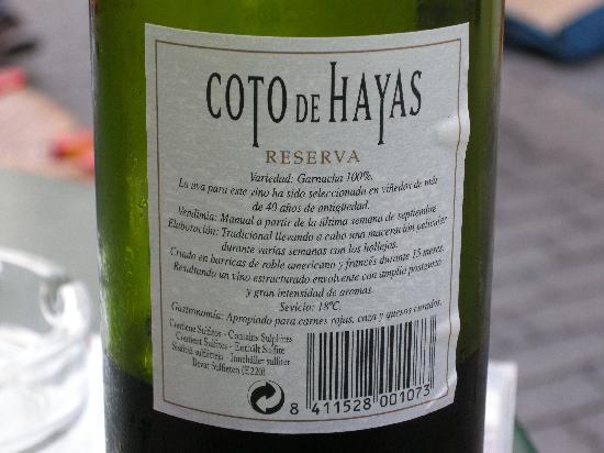 Bar Esquina Paulina: Great Wine