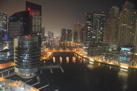 Address Dubai Marina: night views from the balcony