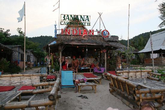 """Banana Garden Home: """"The Indian"""" Bar on the beach front"""