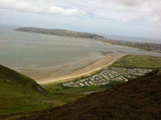 Castlebank Hotel: a view from Conwy Mountain !.