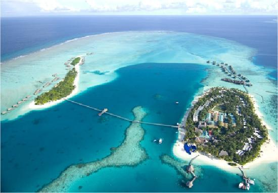Hotel from above fotograf a de conrad maldives rangali for Viajes rangali opiniones