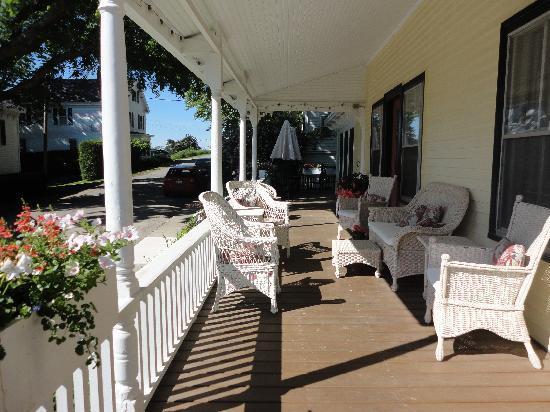 Pentagoet Inn: The porch that drew us in