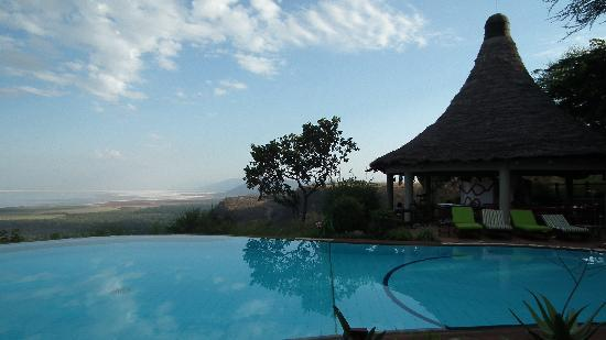Lake Manyara National Park, Tanzania: chilling out by the pool