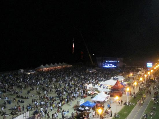 Ramada Virginia Beach Oceanfront: View from Balcony - Beach Boys Concert