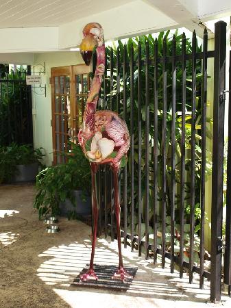 Miami Beach Botanical Garden: Holzflamingo