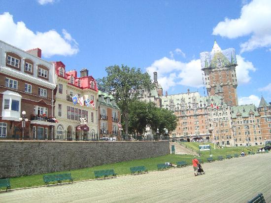 Hotel Terrasse Dufferin: prise de la terrasse
