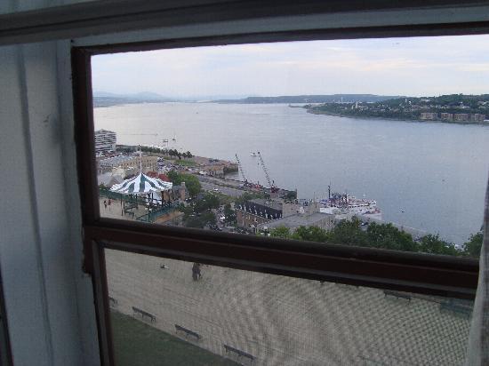 Hotel Terrasse Dufferin : vue de notre chambre