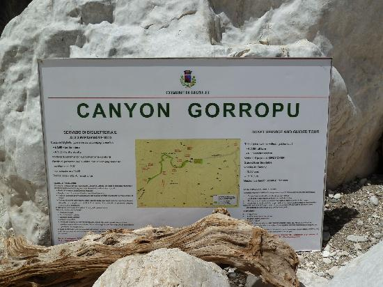 Urzulei, Włochy: Canyon Goruppu