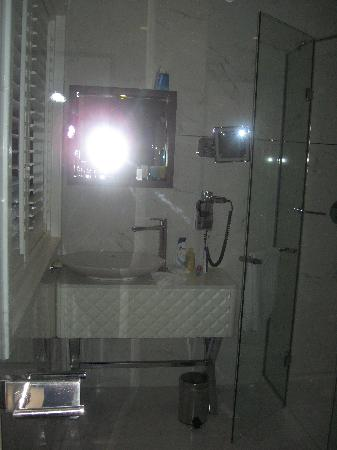 Hotel Notting Hill: Looking through the bathroom door