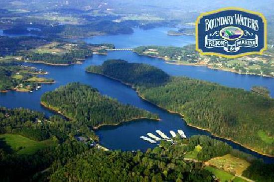 Boundary Waters Resort & Marina: Aerial view of Boundary Waters