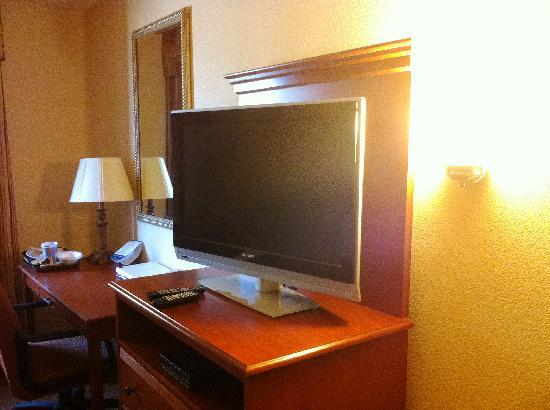 Holiday Inn Express Farmington (Bloomfield): Nice TV and DVD player