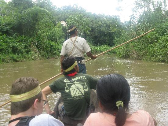 Huaorani Ecolodge: Canoeing down the river