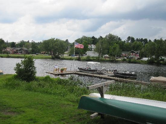 Adirondack Motel: View of the dock.