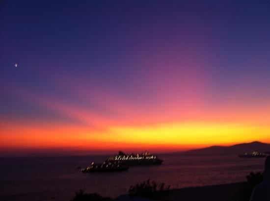 Omiros Hotel: sunset from our terrace , incredible!
