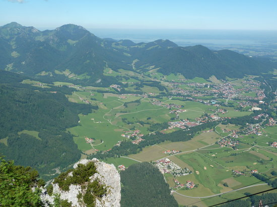 View of the town below (Ruhpolding)