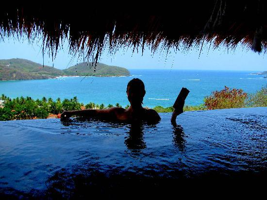 Hotel Cinco Sentidos: Perfect day in the infiniti plunge pool