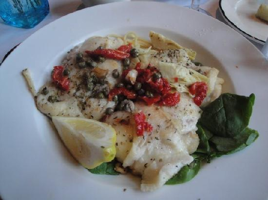 Lanza's Ristorante : Special Sole with capers, basil, and pasta