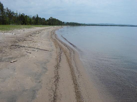 Voyageur Cookhouse: Highway 17 North Batchewana Voyageur's beach