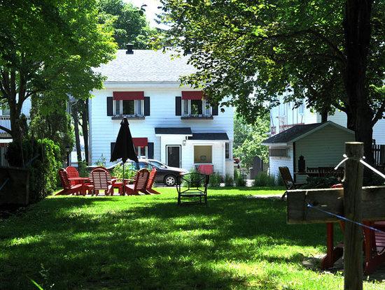 Bed and Breakfast La California / Le Couette et Cafe La California: Backyard