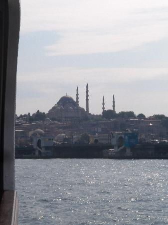 Bosphorus Strait: Looking back at the Old Town