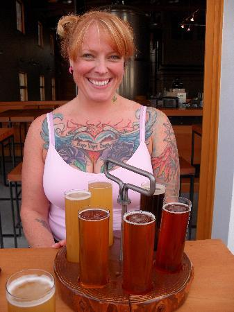 Hotel Pension Anna: sampling the wonderful local brewery & right next to the hotel