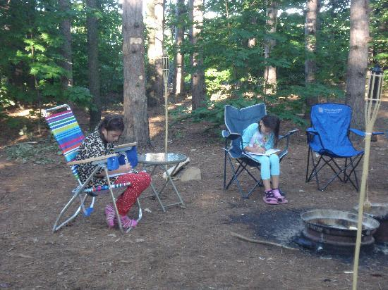 Empire Township Campground: private & spacious