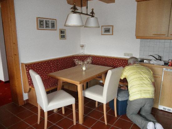 Hotel Auer: mooie eethoek