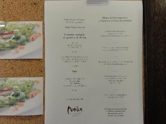 Hotel Monika: un menu a caso