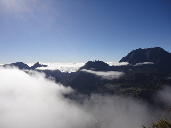 Cirque de Mafate: in the clouds