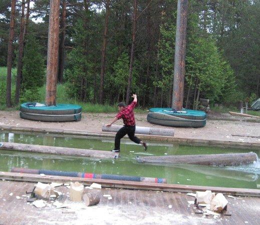 Jack Pine Lumberjack Show: boom running