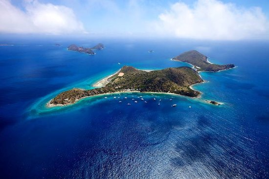 Cooper Island Beach Club: Aerial view of Cooper Island