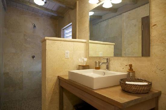 Cooper Island Beach Club: Guest Bathroom and Walk-in Shower
