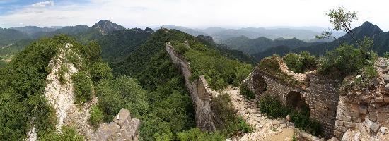 The Great Wall Hike (James Private Tour) : Jiankou Great Wall panorama