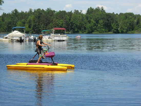 Lake Chippewa Campground : aqua bikes