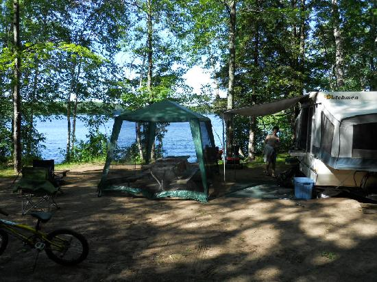 Lake Chippewa Campground : our campsite
