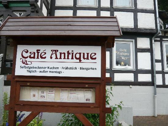 Cafe Antique: Hinweisschild Café Antique