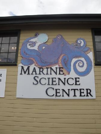 Port Townsend Marine Science Center : The sign tells you what building is which.