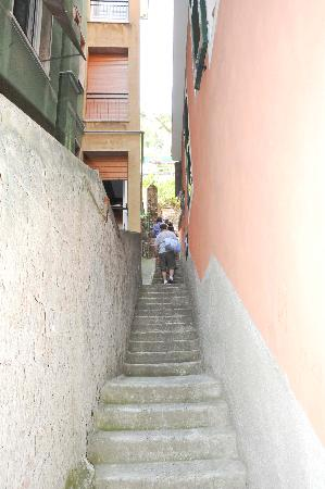 Hotel Villa Steno: These are the steps your climb