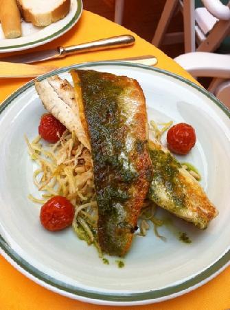 La Caravella: Sea bass. Delicate and delicious.