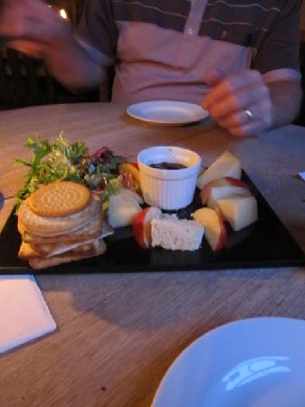Hawkley Inn: cheese board