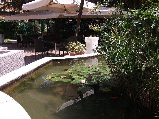 Excel Hotel Roma Montemario: Pool and fish