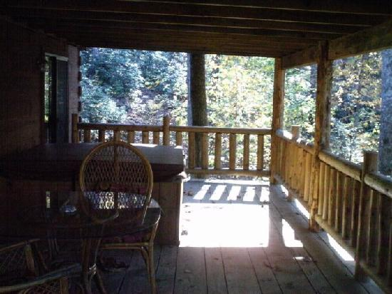 Asheville Cabin Rentals: The porch again.
