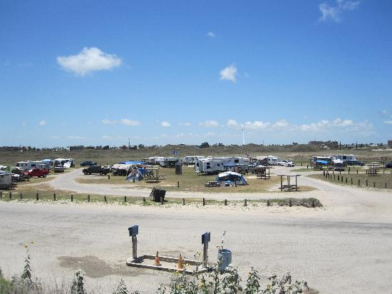 IB Magee Beach Park : The infield, RV and tent camps