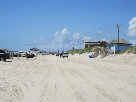 IB Magee Beach Park: driving on the beach