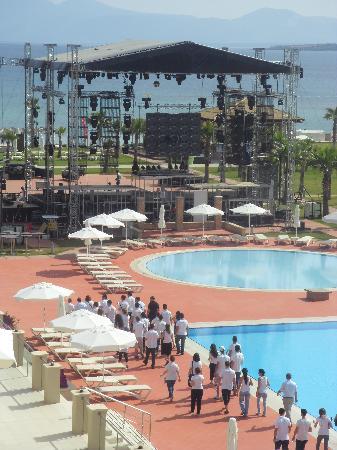 Radisson Blu Resort & Spa, Cesme : stage that was built